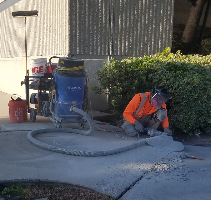 Monrovia Renewal Precision Concrete Sidewalk Cutting