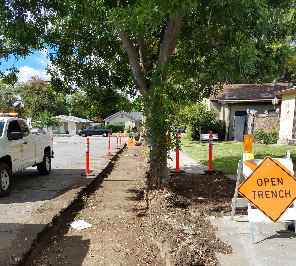 Monrovia Renewal Curb Trench