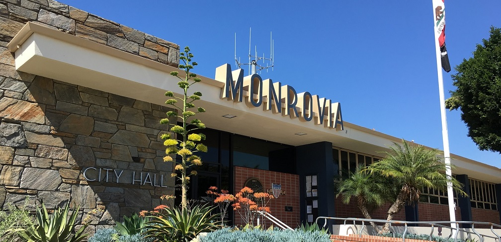 Monrovia City Hall Entrance