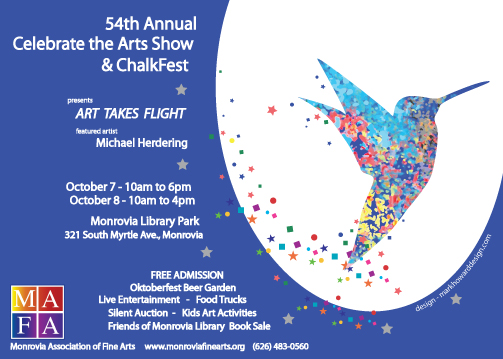 MAFA Oct 7 and 8 Celebrate the Arts Show ChalkFest graphic