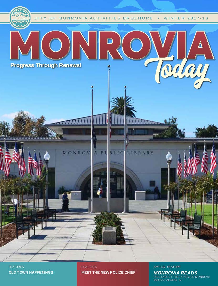 Monrovia Today Winter 2017 Cover