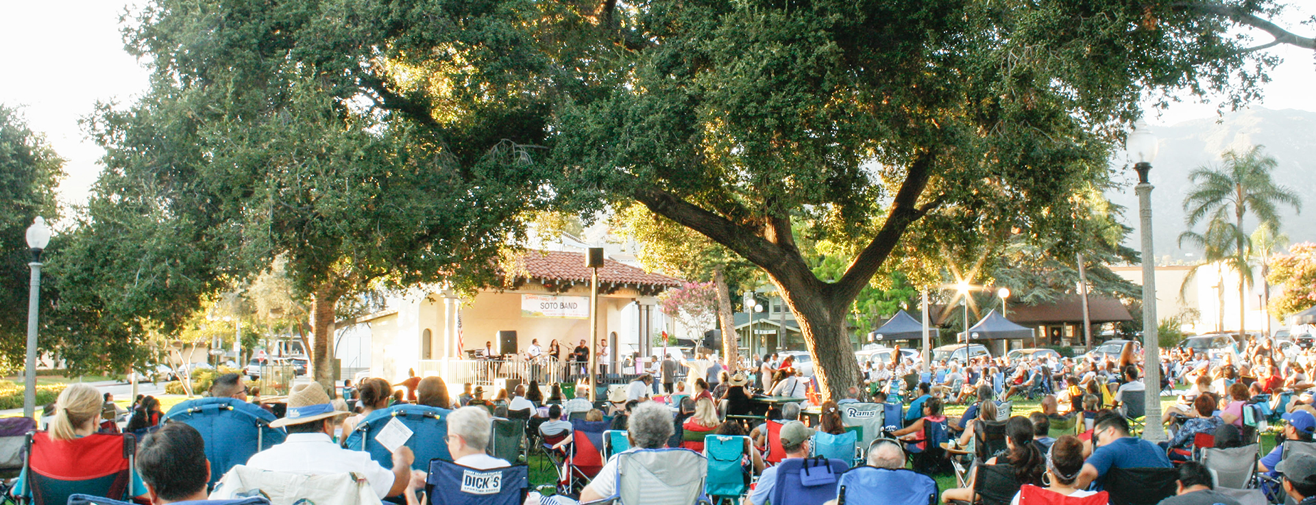 Monrovia Summer Concerts in the Park Banner