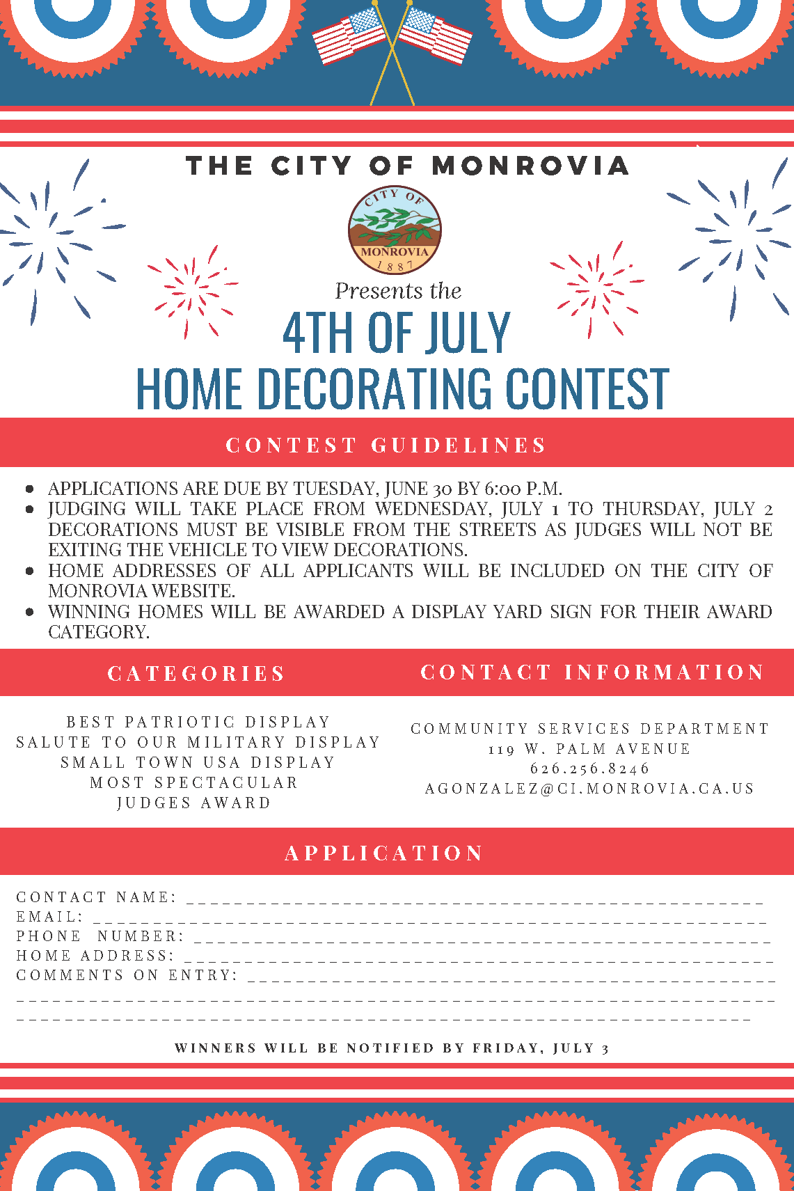 4th of July Decorating Contest