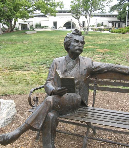 Mark Twain at Library Park