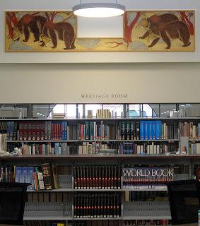 Bear Mural at the Library