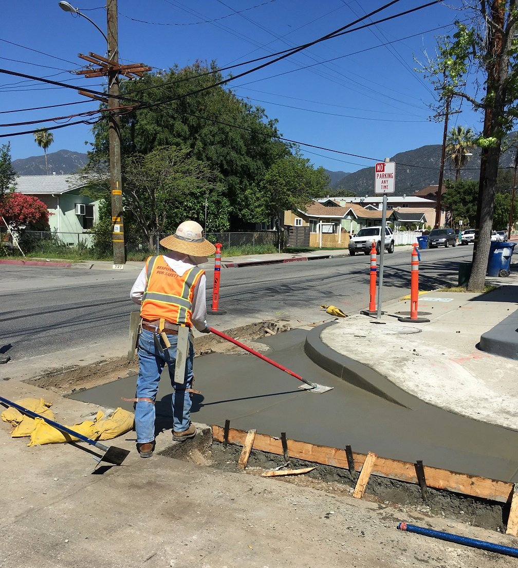 Monrovia Renewal Concrete Curb Work