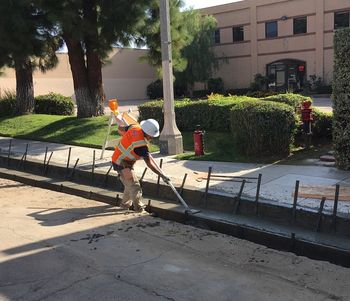 Monrovia Renewal Pouring New Curb & Gutter