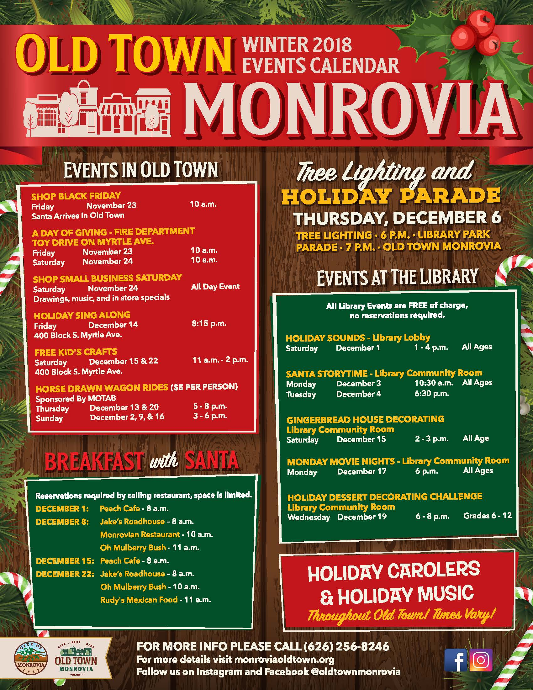 Monrovia Christmas Parade 2019 Special Holiday Events & Activities in Old Town Monrovia | City