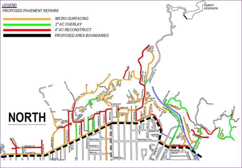 Monrovia Renewal North Section Map