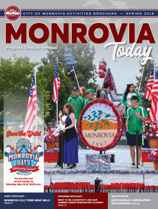 Monrovia Today - Spring 2019 Cover