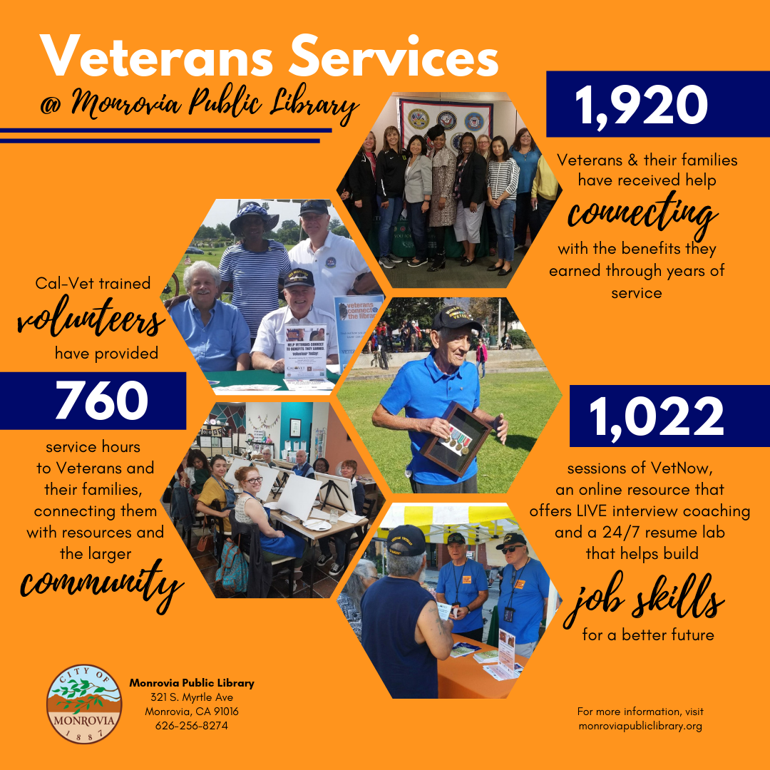Veterans Resource Center, Monrovia Public Library