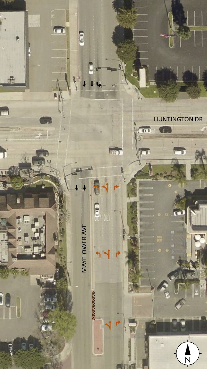 Huntingtion & Mayflower Intersection
