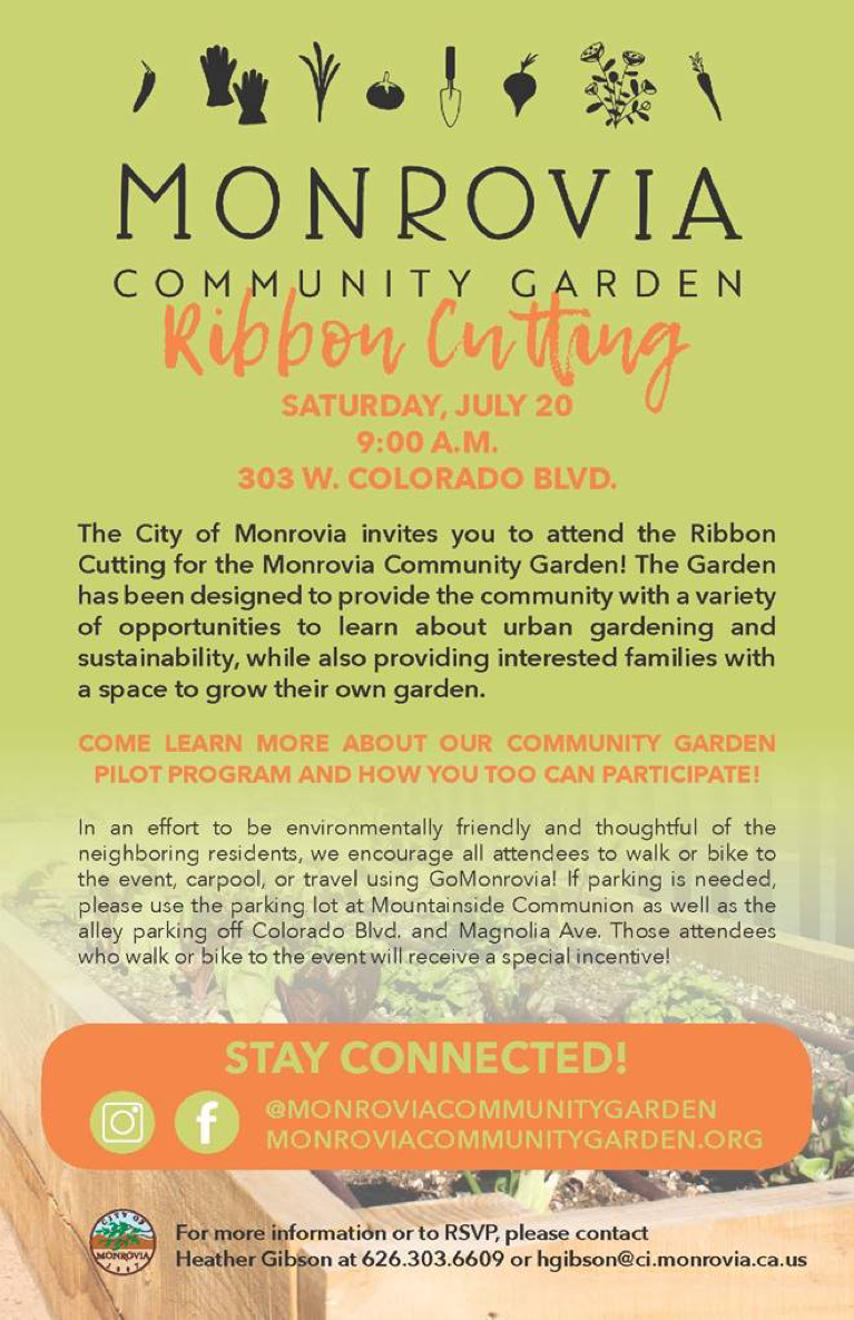Community Garden Ribbon Cutting