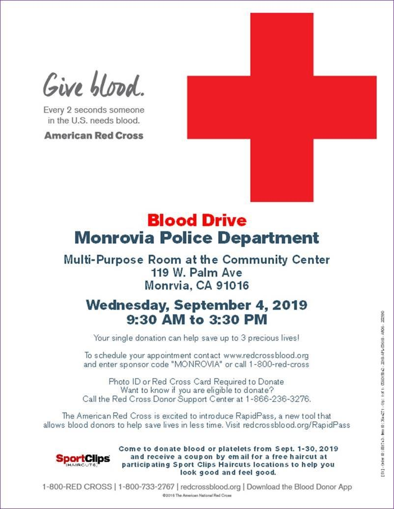 MPD Blood Drive- September 4