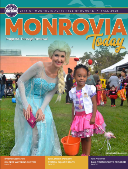Monrovia Today Fall 2018 Cover Photo Highlighting the Annual Halloween Bash