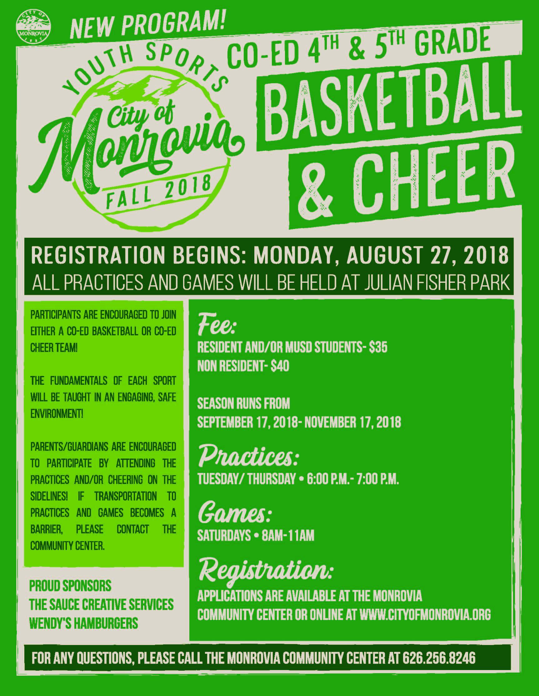 Basketball Cheer Flyer