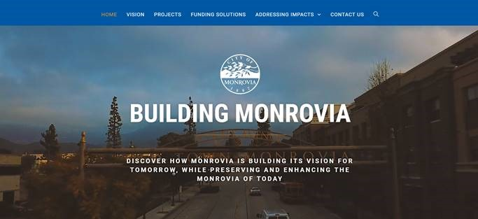 Building Monrovia Homepage